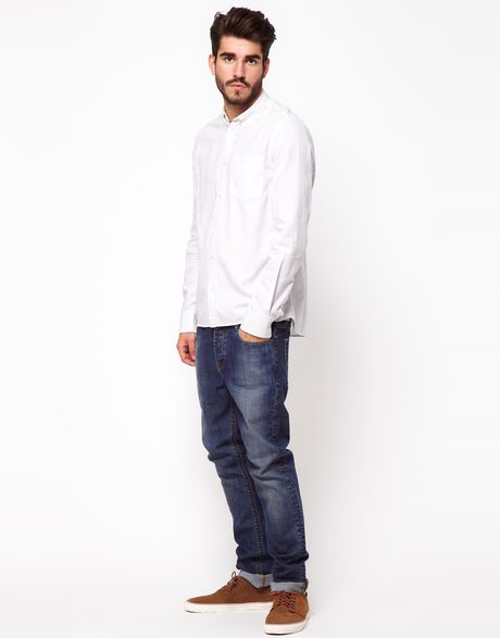 Mens White Jeans Slim Fit