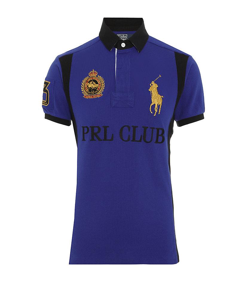 Polo ralph lauren custom fit big pony club polo shirt in for Ralph lauren polo club shirts