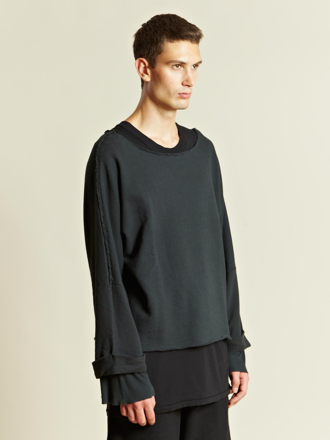 Silent - damir doma Silent Mens Cropped Sweater in Blue for Men | Lyst