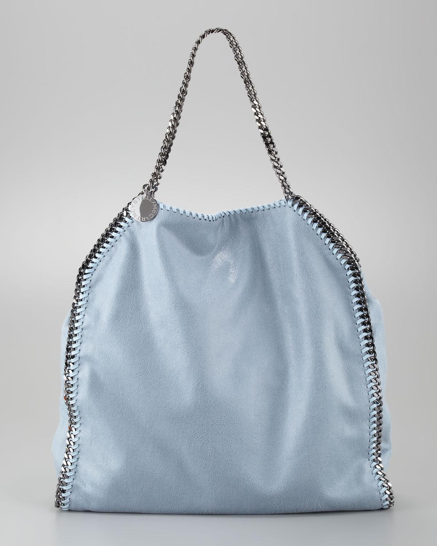Lyst - Stella McCartney Falabella Tote Bag Duck Blue in Blue 10f337617f
