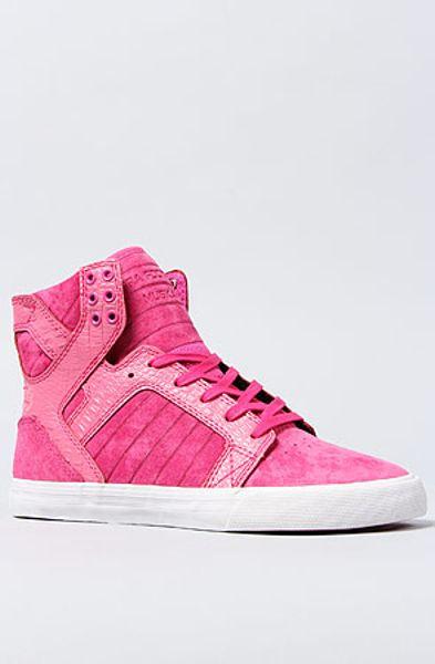 supra sky top sneaker in pink lyst