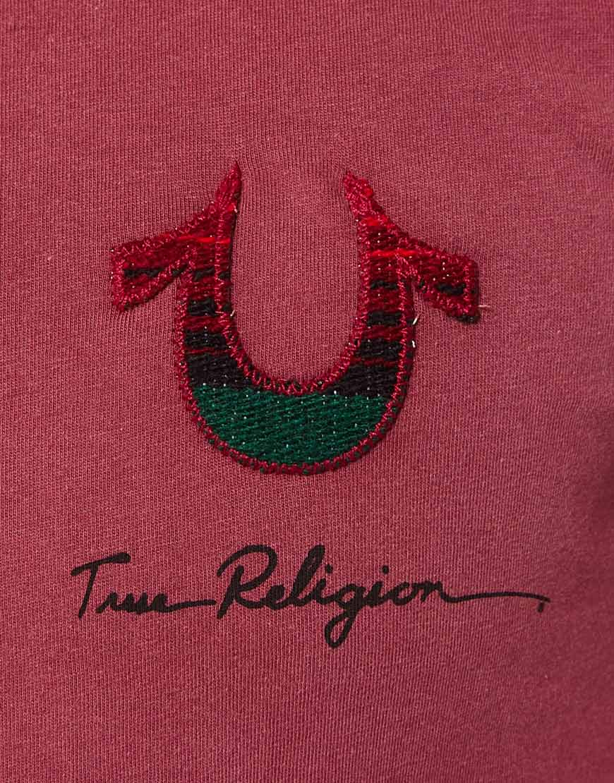 Lyst True Religion Tshirt Aztec Horseshoe Logo In Red For Men