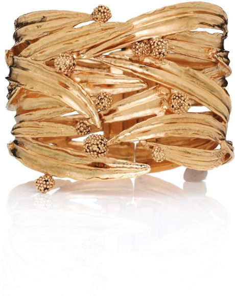 Aurelie Bidermann Surfing Mimosa Cuff in Yellow (gold) - Lyst