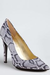 Stella McCartney  Snake Printed Silk Viodia Pumps