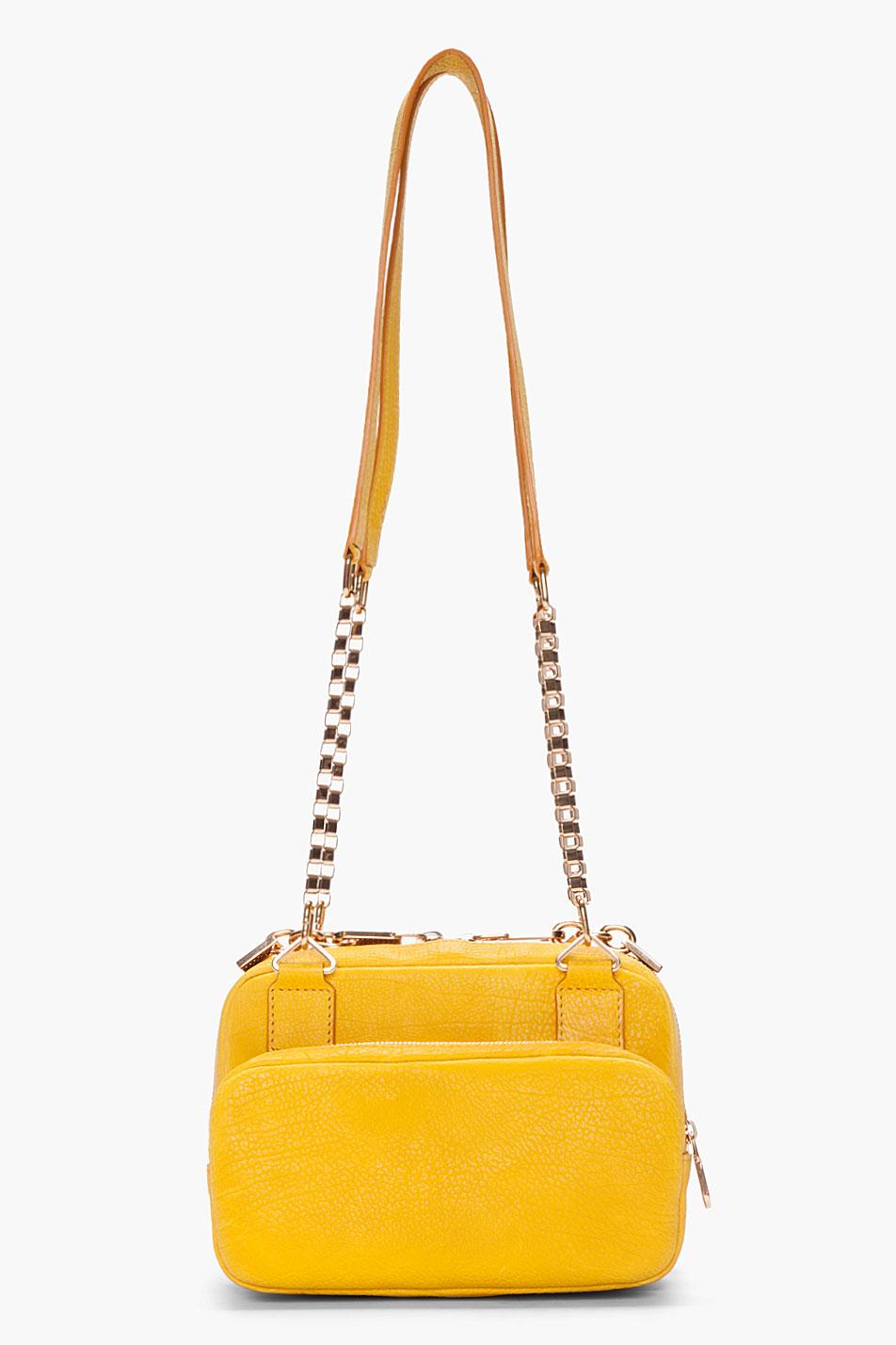 Chlo¨¦ Yellow Venetian Chain Lucy Bag in Yellow | Lyst