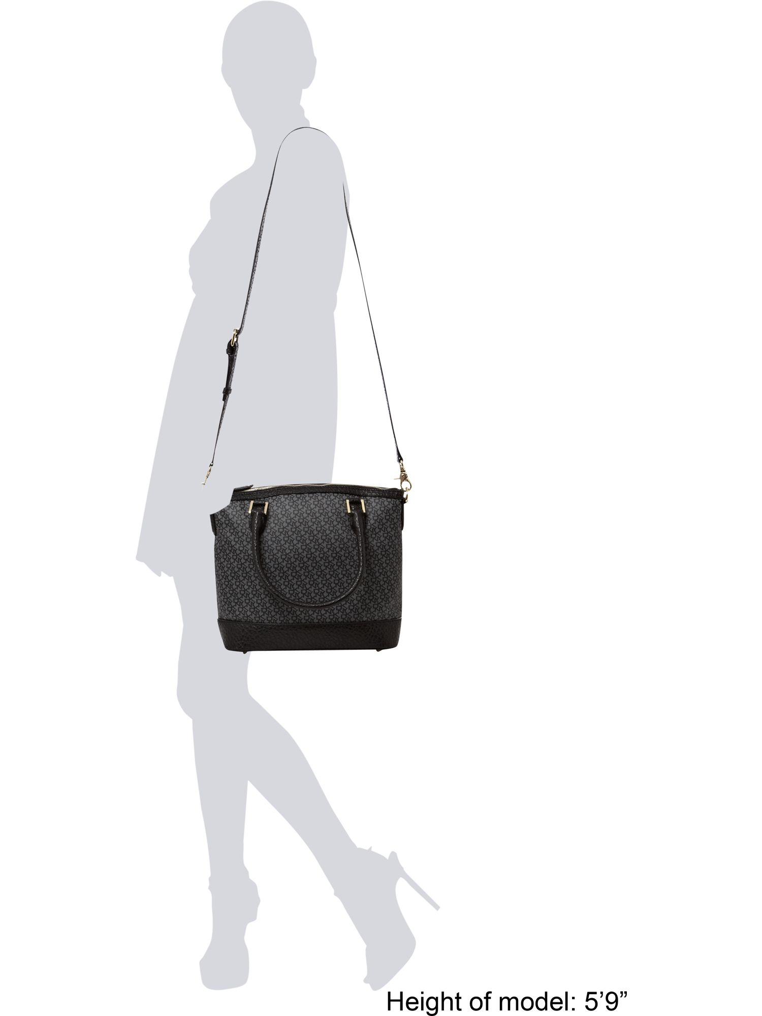DKNY Coated Logo Tote Bag in Black