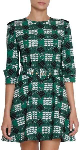 Marni Printed Trench Dress - Lyst