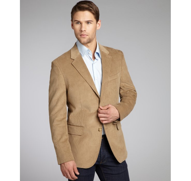 Tommy hilfiger Two-Button Wilson Corduroy Sportcoat in Natural for ...