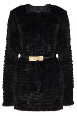 Elie Saab Mink Short Fur Coat