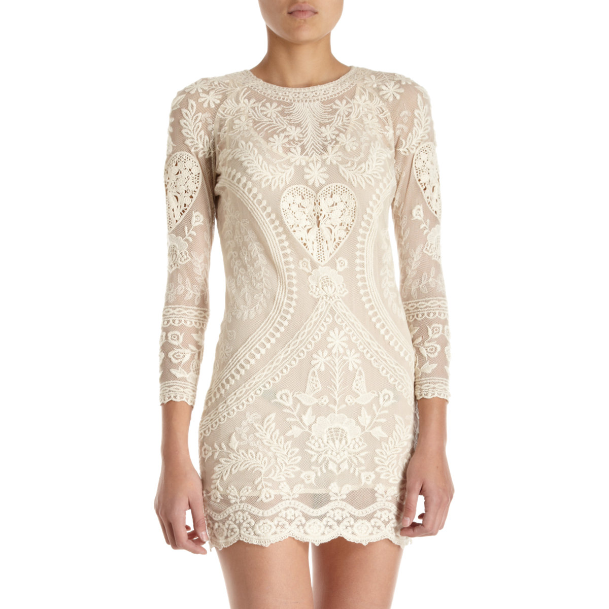 Isabel marant devi dress in beige ivory lyst for Isabel marant shirt dress
