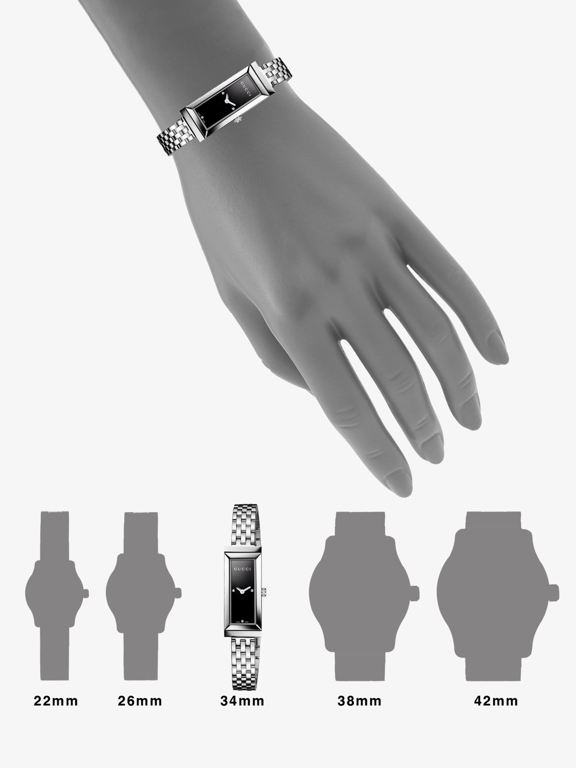 Lyst - Gucci G-frame Diamond & Stainless Steel Rectangle Watch in ...