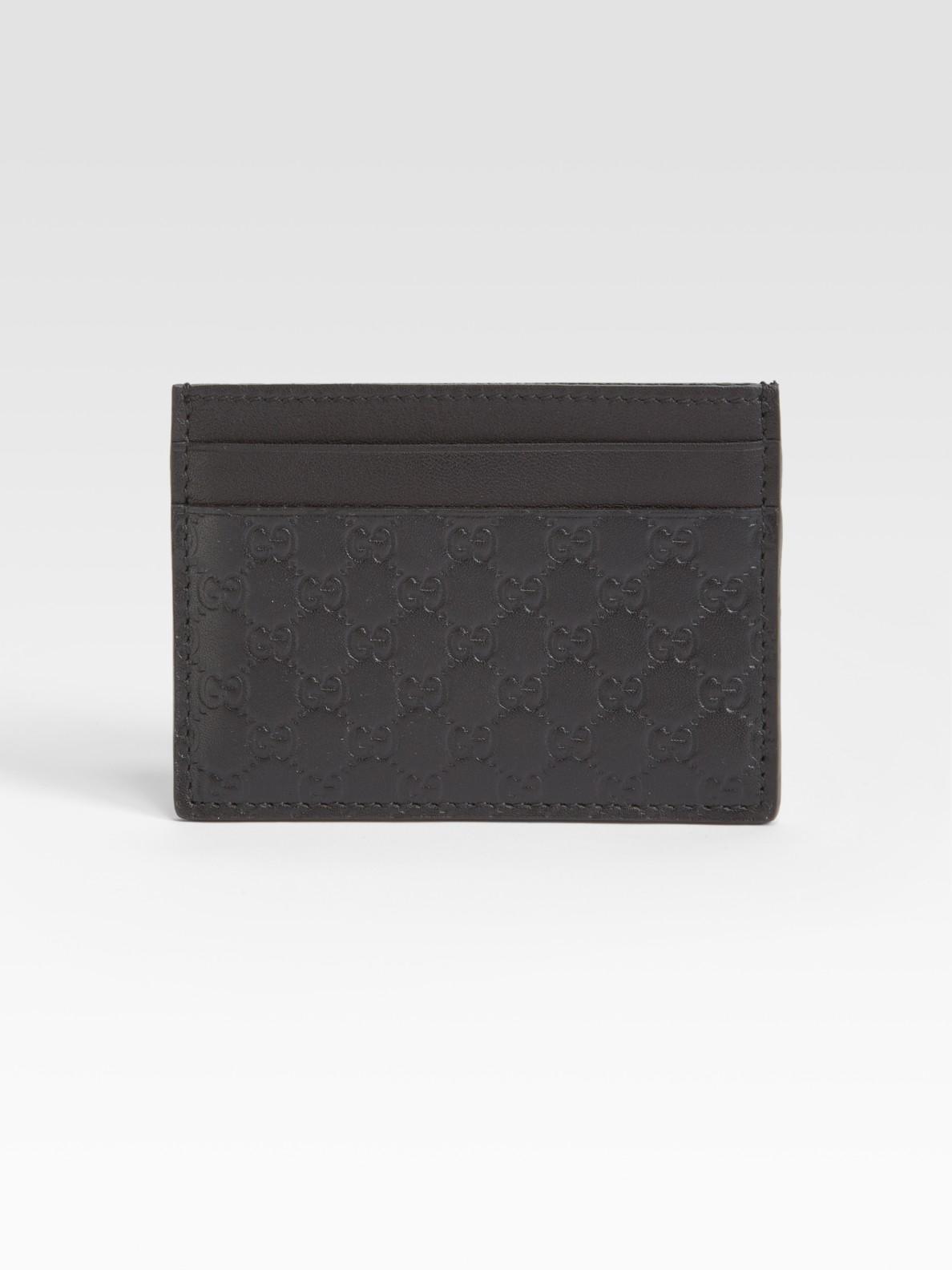 f182153c1973 Gucci Microguccissima Leather Card Case in Black for Men - Lyst