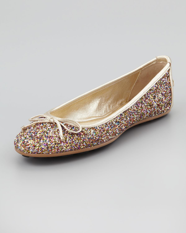 e52c8cf806 Jimmy Choo Metallic Walsh Glitter Ballerina Flat