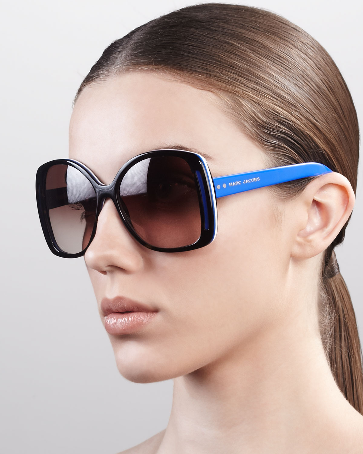 a218249c15 Marc Jacobs Oversized Oval Sunglasses in Blue - Lyst