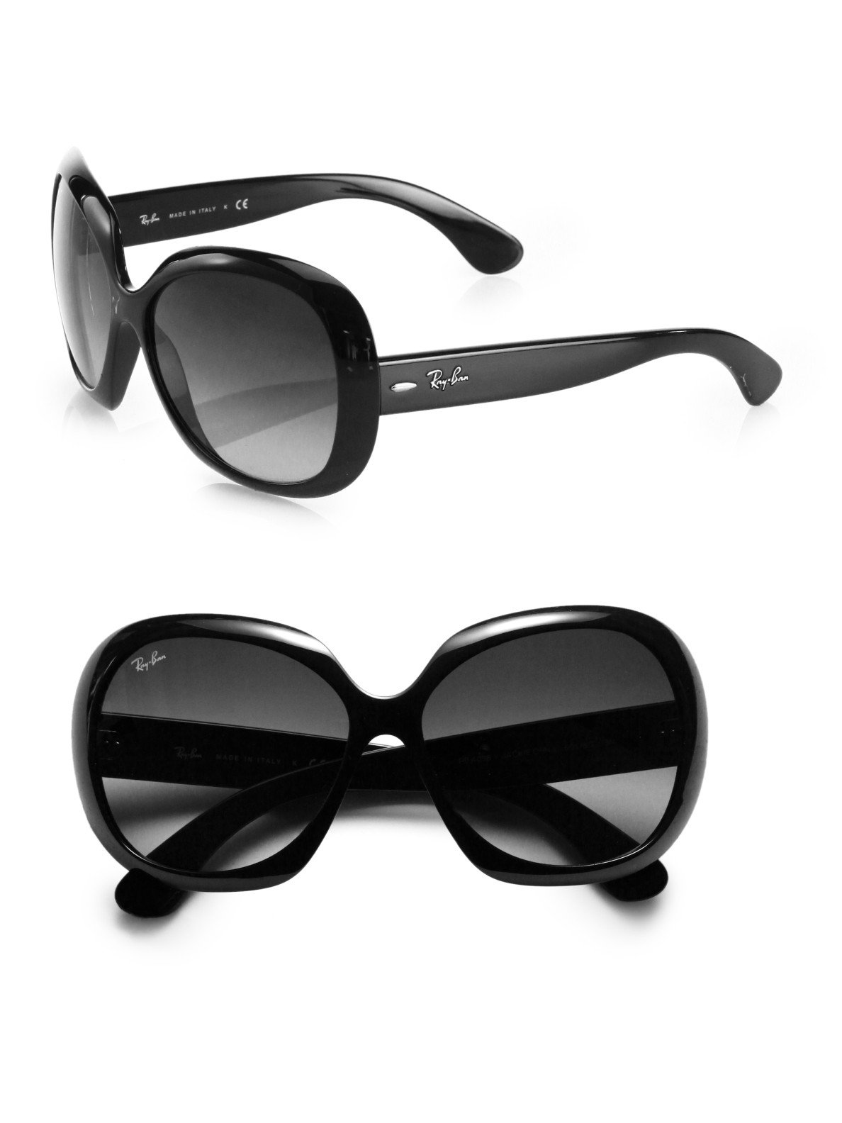 3208821ebc Ray-Ban Rb4098 Jackie Ohh Oversized Round Sunglasses in Black - Lyst