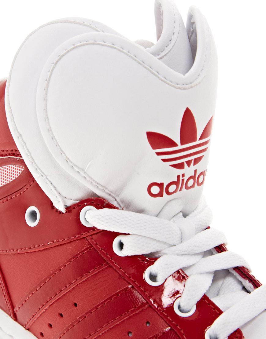 adidas Top Ten Hi Sleek Bow Red Trainers Lyst