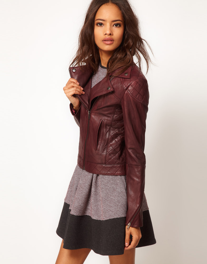 Asos womens leather jackets
