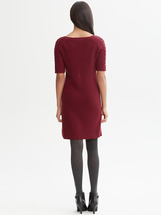 Banana Republic Cableknit Sleeve Sweater Dress In Red Lyst