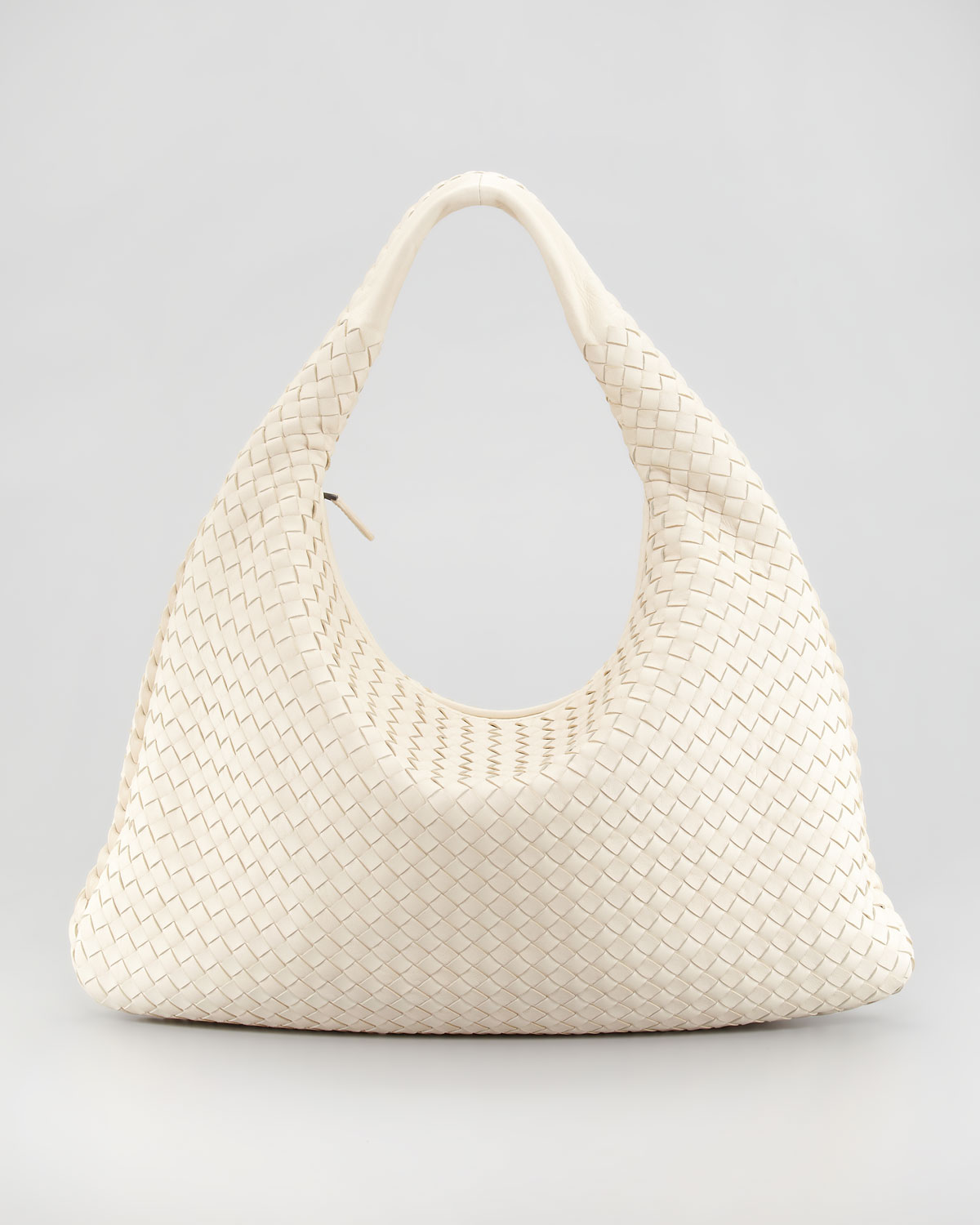 4fad1a0960 Lyst - Bottega Veneta Veneta Woven Hobo Bag Large in Natural