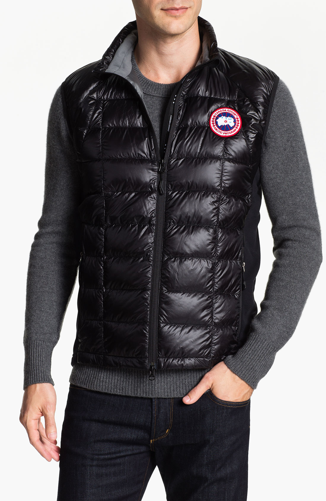 Canada Goose mens online store - Canada goose Hybridge Lite Quilted Down Vest in Black for Men ...