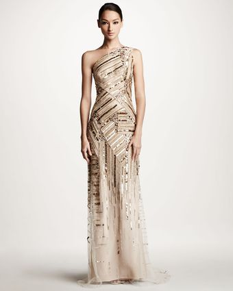 Carolina Herrera Embroidered Gown - Lyst