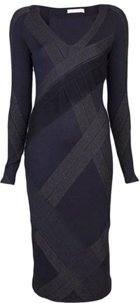 Donna Karan New York Collage Dress in Gray (navy)