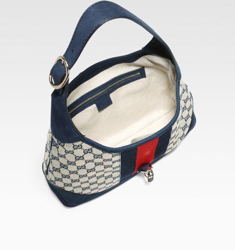 Gucci Jackie Original Gg Canvas Shoulder Bag in Blue