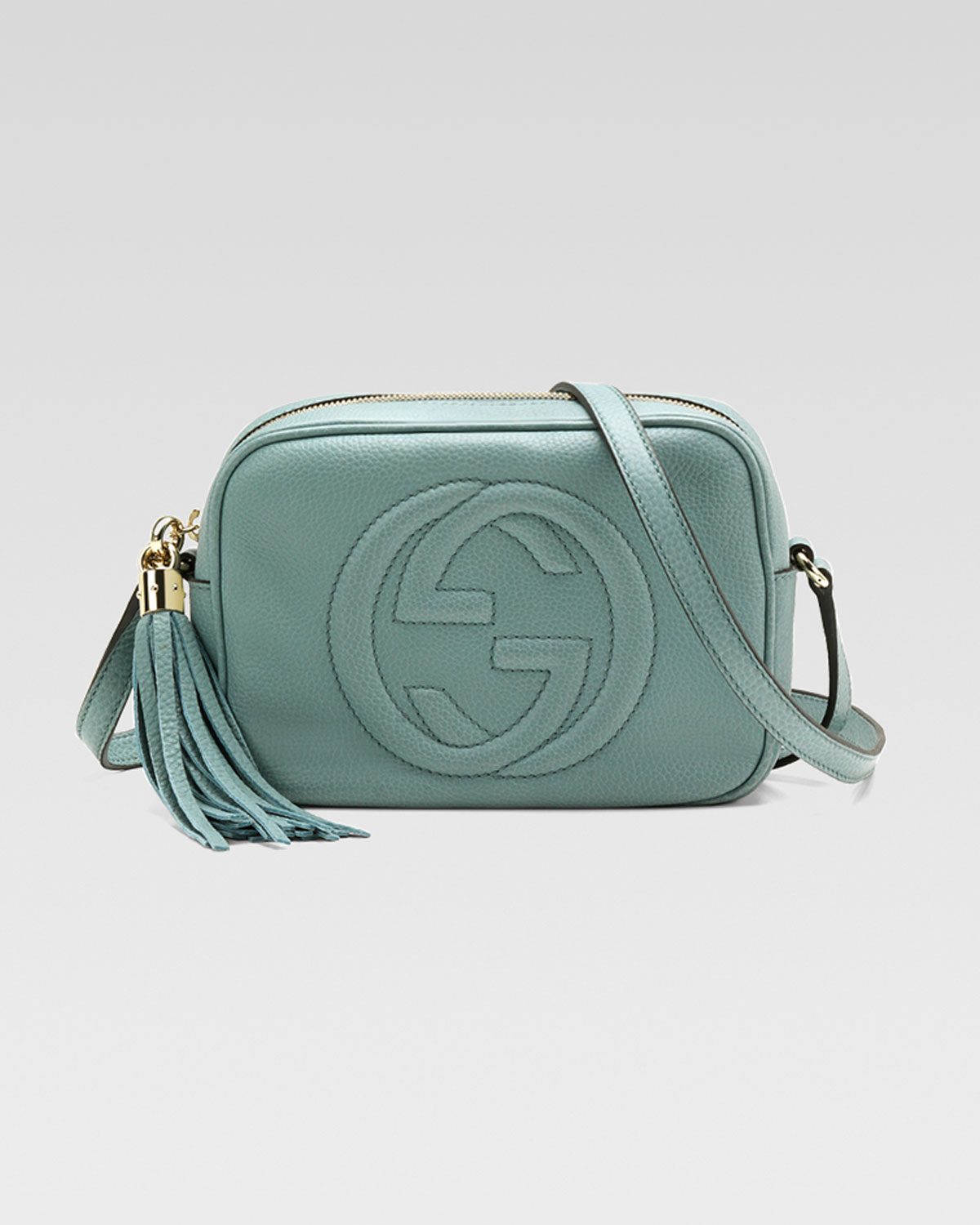 3fea11cbcde Lyst - Gucci Soho Leather Disco Bag Pool Water in Green