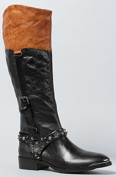 Sam Edelman The Park Boot In Black And Saddle In Black Lyst