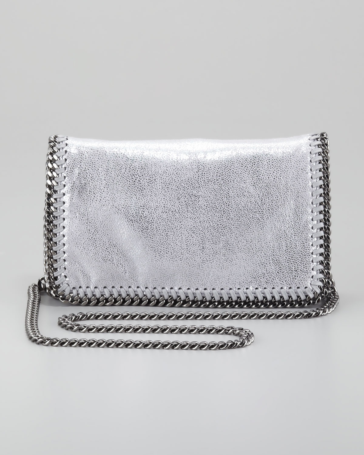 Lyst - Stella McCartney Falabella Crossbody Bag Silver in Gray cd9cb85659c81