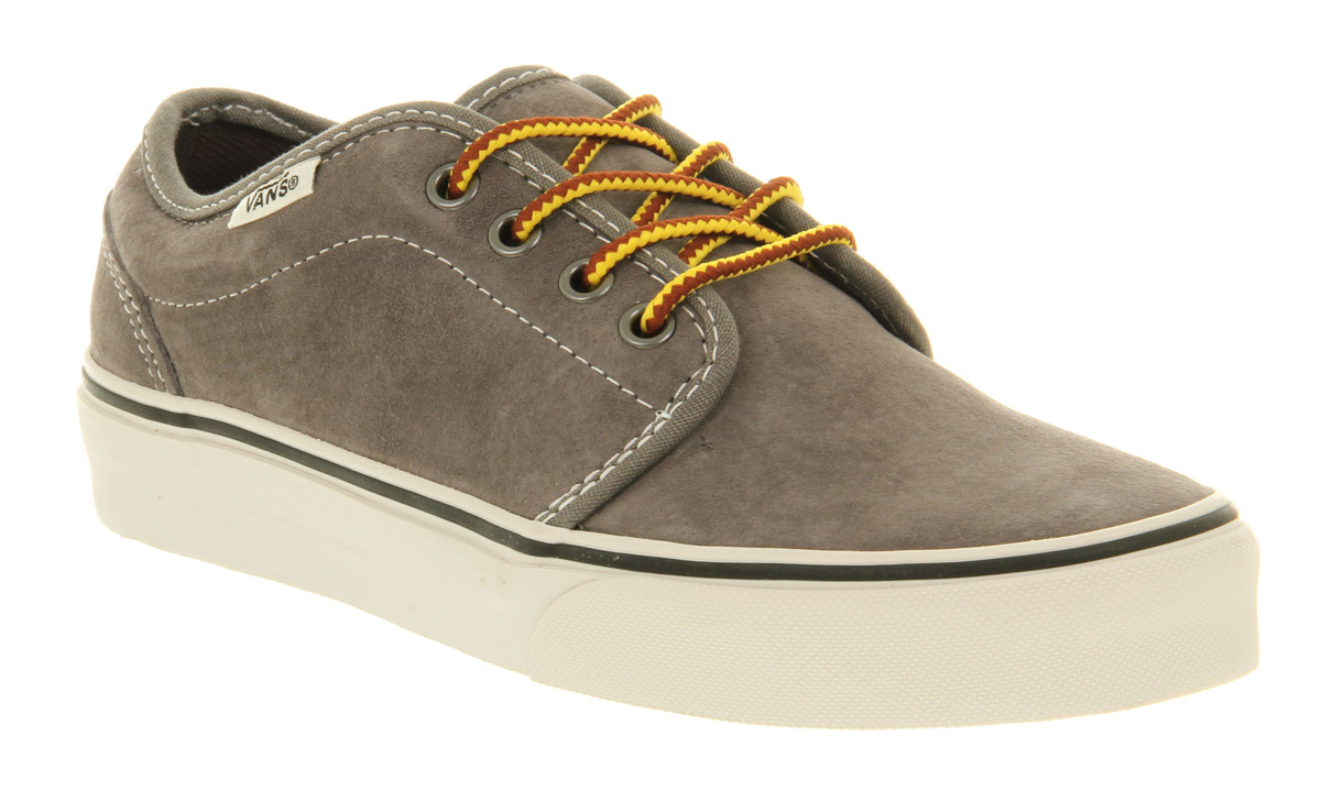 35411121f1 Lyst - Vans 106 Vulcanized Charcoal Grey Suede in Gray for Men