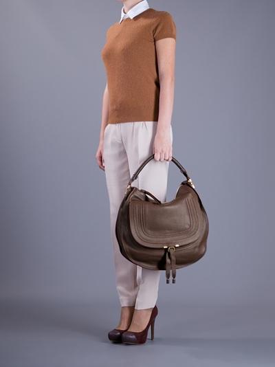 Chlo¨¦ Marcie Hobo Bag in Brown | Lyst