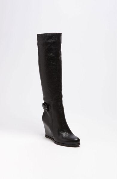 franco sarto navarro wedge boot in black black vintage