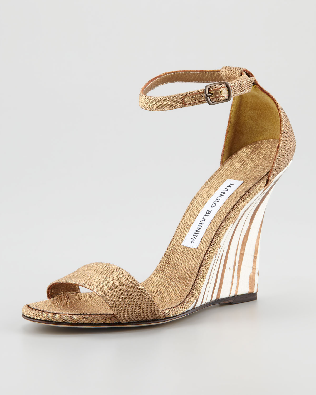 Gold Wedge Shoes Uk