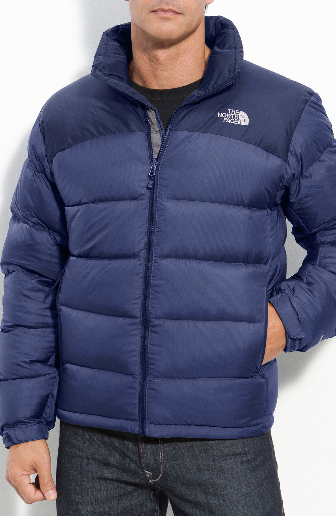 the north face nuptse 2 down jacket in blue for men lyst. Black Bedroom Furniture Sets. Home Design Ideas