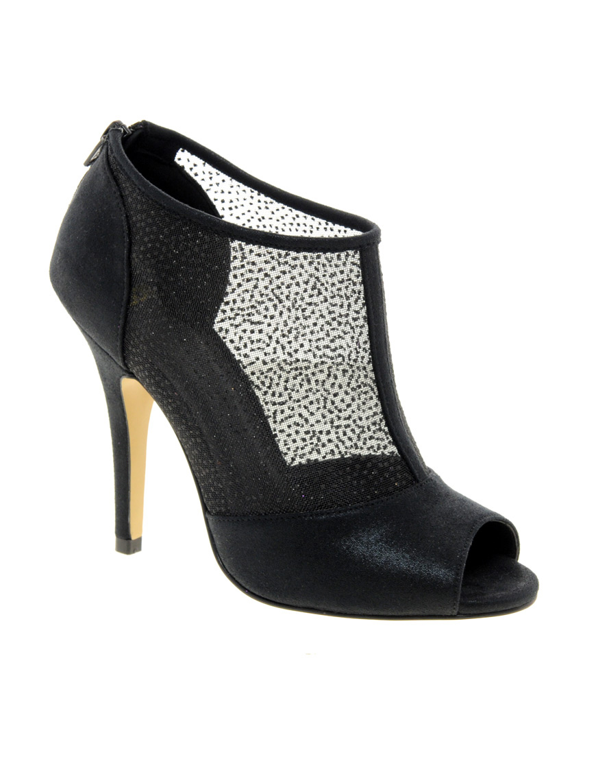 asos asos twilight peep toe shoe boots in black lyst