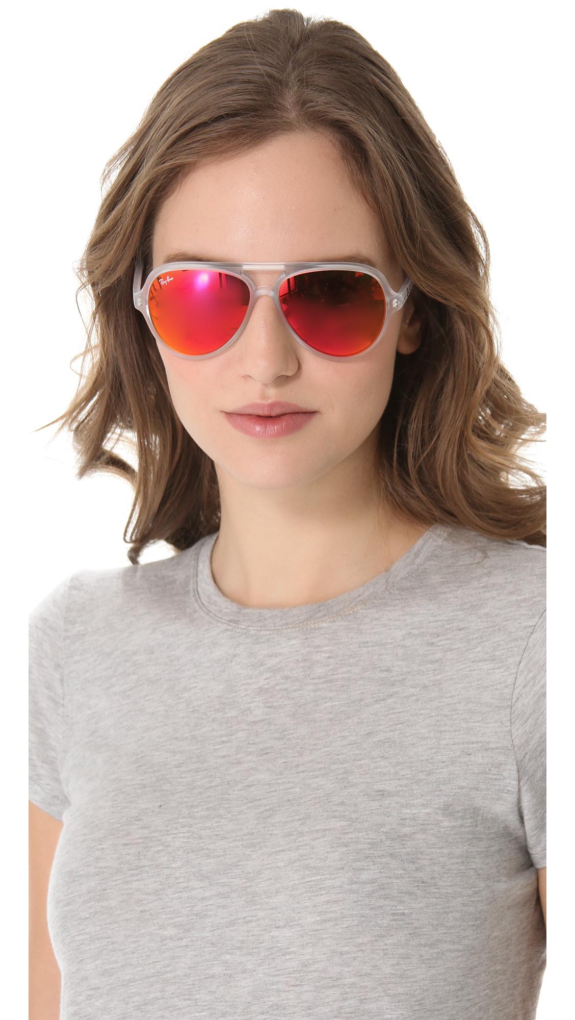 Ray-ban Mirrored Cats Aviator Sunglasses | Lyst