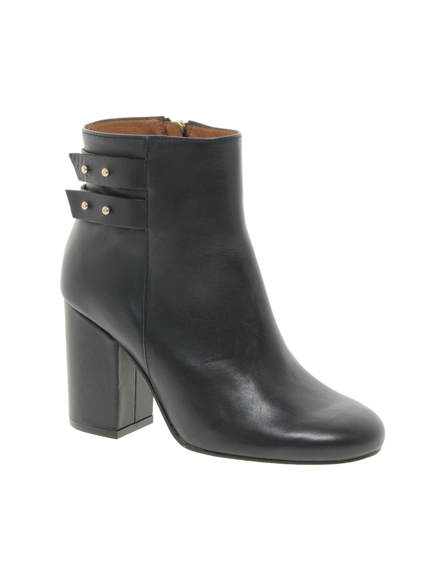7e99d07697ca Lyst - Whistles Stinger Black Strapped Ankle Boots in Black