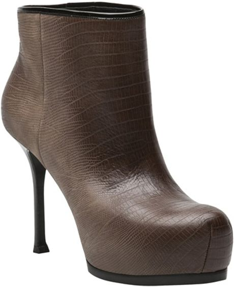 Saint Laurent Tribtoo Boot in Brown