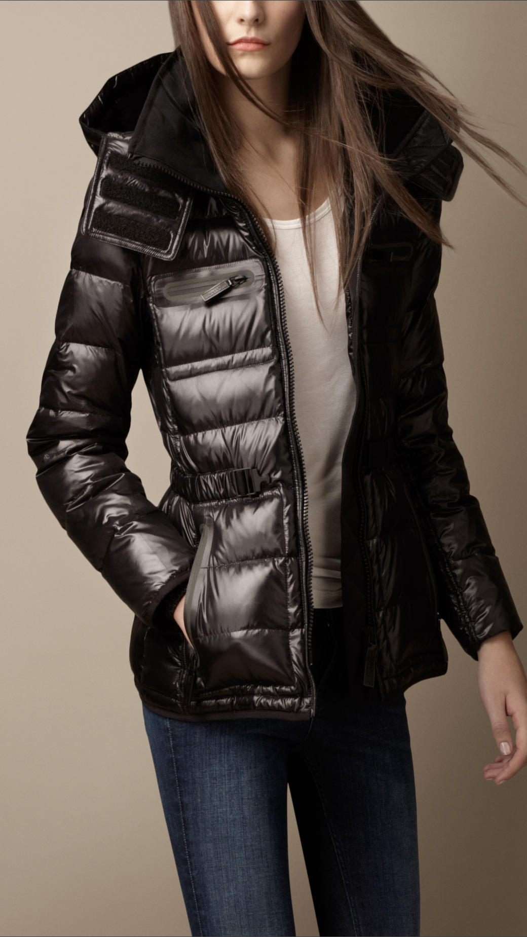 Down filled puffer coat burberry