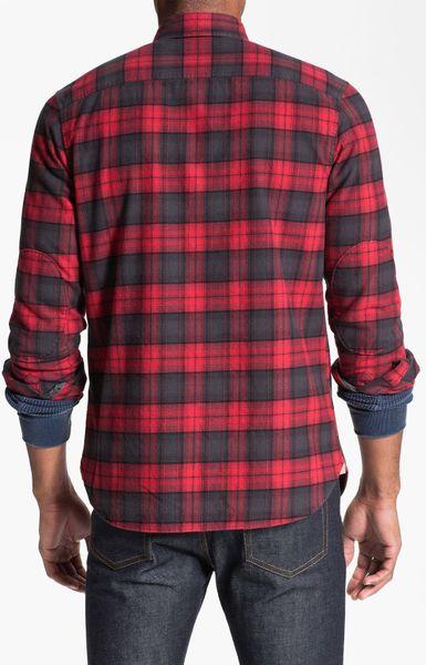 Wallin Amp Bros Plaid Flannel Shirt In Red For Men Phantom