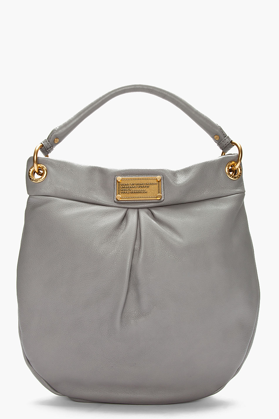 a6e26f0118d6 Lyst - Marc By Marc Jacobs Grey Leather Hillier Hobo Bag in Gray