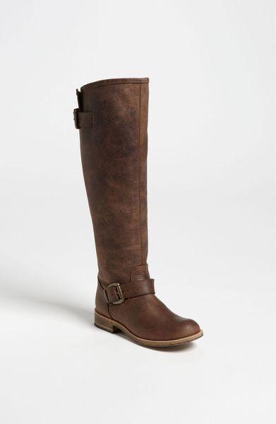 steve madden lynxx boot in brown brown multi lyst