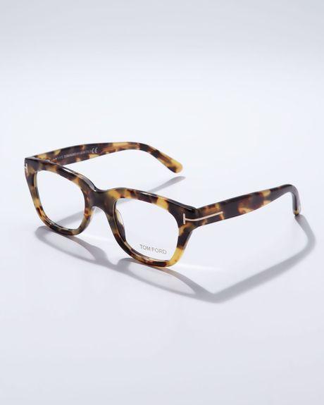 Tom Ford Large Havana Fashion Glasses In Animal For Men