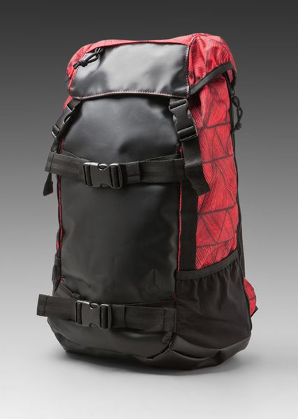 Nixon Landlock Backpack in Black (bermuda red)
