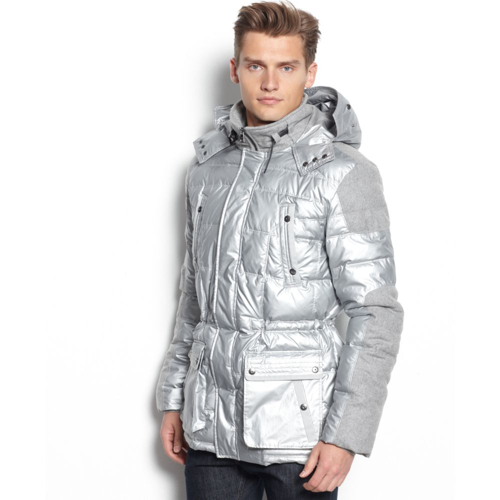 a2c68dca10c24 Lyst - Calvin Klein Macys Holiday Exclusive Two Tone Puffer Coat in ...