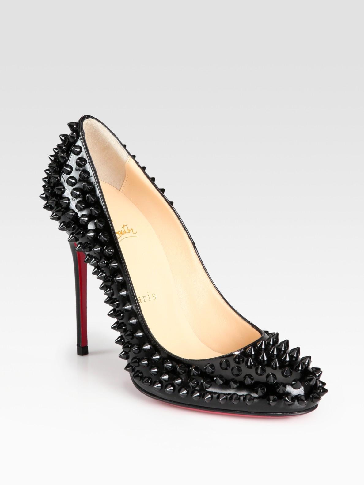 louboutin pink studded heels