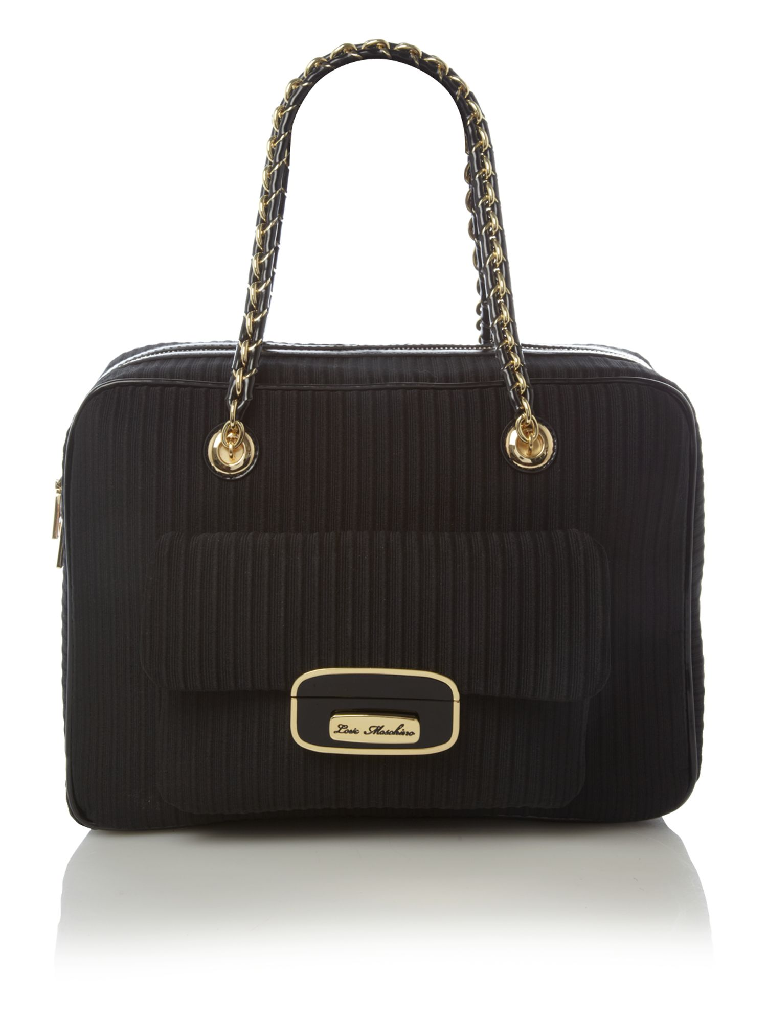 love moschino otto bowling bag in black lyst. Black Bedroom Furniture Sets. Home Design Ideas