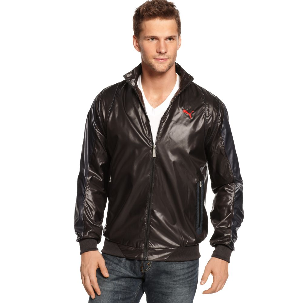 puma ferrari sf lightweight jacket in black for men lyst. Black Bedroom Furniture Sets. Home Design Ideas
