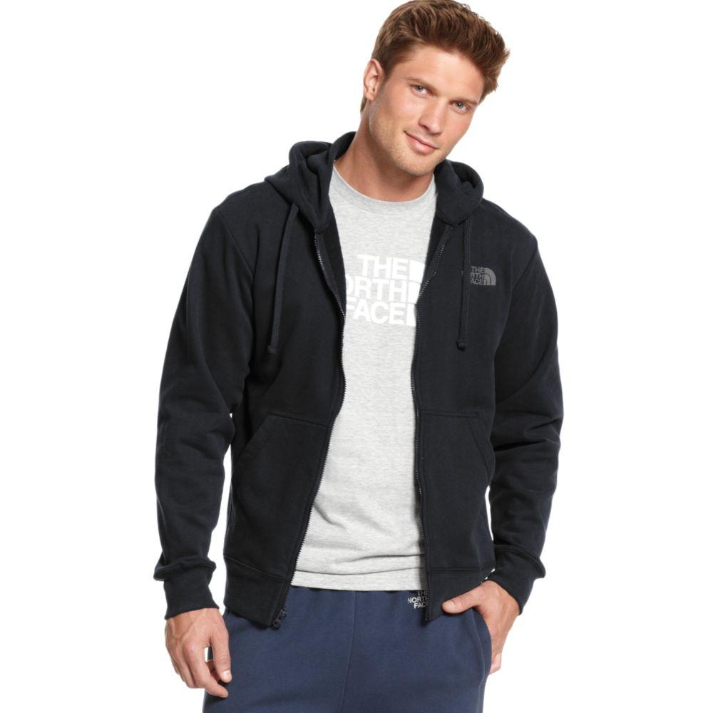 cd140f6e8 The North Face Black Logo Fleece Full Zip Hoodie for men